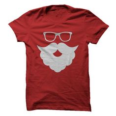 Awesome Beard Lovers Tee Shirts Gift for you or your family member and your friend:  Santa Beard and Glasses Tee Shirts T-Shirts