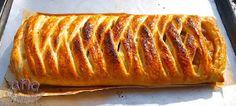 MIS COMIENZOS EN LA BLOG COCINA: TRENZA DE HOJALDRE rellena con dos texturas de manzana. Hot Dog Buns, Hot Dogs, Mousse, Enchiladas, Sweet Recipes, Banana Bread, Pork, Beef, Desserts