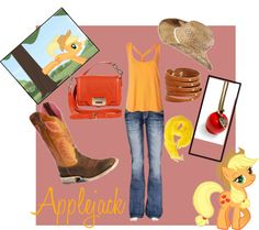 Applejack, created by hot4lily on Polyvore