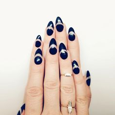 primacreative: Black nails with exposed midriff. Original nail design by Christina Rinaldi of Prima Creative