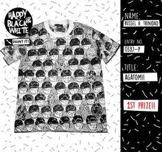 Artwork T-shirt Contest, 1st Prize Winner! #tees #tshirtcontest #artworkblackandwhite #blackandwhite