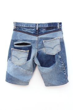 Vinti Andrews Eco Denim Shorts - Eco Blue