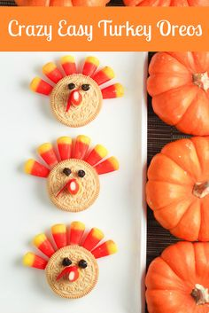 Kids Recipe: Easy Turkey Oreos for Thanksgiving Dessert!