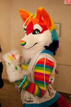 Rainbow Fursuit Maker: Unknown I just absolutely LOVE this fursuit! Rainbow makes EVERYTHING awesome :D