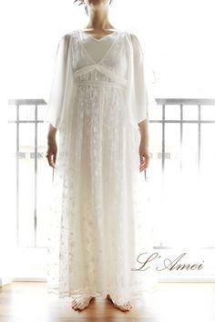 Custom Greek Goddess Style Deep V Lace Wedding Dress suitable for Boho Beach by LAmei on Etsy https://www.etsy.com/listing/194183434/custom-greek-goddess-style-deep-v-lace