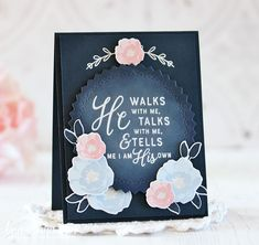 He Walks with Me Card by Laurie Schmidlin for Papertrey Ink (February Get Well Cards, Just Giving, Cute Cards, Creative Cards, I Card, Birthdays, Card Making, Anniversary, Paper Crafts