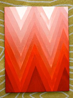 Ombre Chevron Painting...pretty much only need 2 colors of paint plus lots of tape and time!