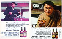 Jack Palance for Heublein Cocktails