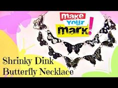 ▶ How to Make a Shrinky Dink Butterfly Necklace - YouTube. And if you don't want to buy Shrinky Dinks, recyclable plastic number 6 works too!