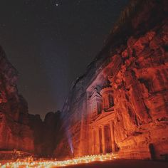 Petra by night // awestruck by the beauty and mystery of this place  @visitjordan #shareyourjordan by samhorine