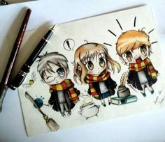 Such a cute Harry Potter drawing