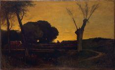 George Inness | Evening at Medfield, Massachusetts | American | The Met