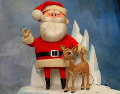 """Rudolph the Red-Nosed Reindeer is a fictional reindeer with a glowing red nose. He is popularly known as """"Santa's Reindeer"""" and, when depicted, is the lead reindeer pulling Santa's sleigh on Christmas Eve. Christmas Shows, Christmas Past, Christmas Movies, All Things Christmas, Vintage Christmas, Christmas Holidays, Christmas Specials, Christmas Ideas, Christmas Classics"""