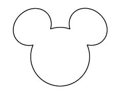 Mickey Mouse Head Template | downloaden patroon van de oren downloaden zwarte oortjes