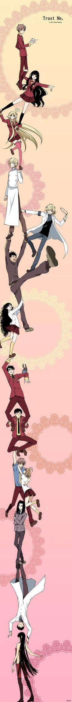 Durarara Ending Parody. Characters featured are from Shiritsu Horitsuba Gakuen.  (Fan-art)