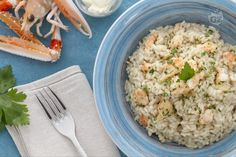 Un'altra ricetta molto particolare per il vostro menù delle feste natalizie, per deliziare i vostri ospiti: il risotto allo champagne e scampi!