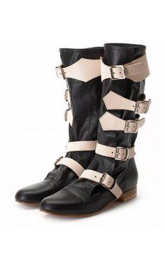 Vivienne Westwood Pirate Boot Black #SS16 #vogue