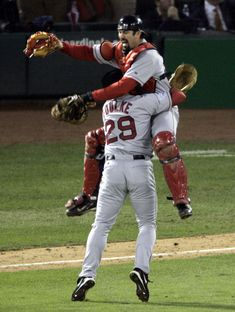 The Red Sox win the World Series in 2004.
