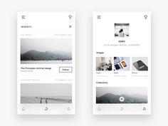 Photo social app design by XINBO - Dribbble Mobile Ui Design, Ui Design Inspiration, Web Layout, User Interface Design, Ux Design, Interior Design, Print Design, App Ui, Shots