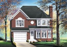 House plan number 80054PM - a beautiful 3 bedroom, 2 bathroom home.