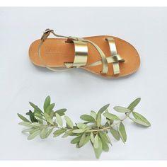 Greek Sandals Sandals Leather Sandals Gold Sandals Leather Sandals... (€49) ❤ liked on Polyvore featuring shoes, sandals, gladiator & strappy sandals, gold, women's shoes, strap sandals, gold sandals, gladiator sandals, brown leather sandals and leather strap sandals