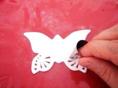 Use tips to make a lace effect when working with gum paste, marzipan, etc.