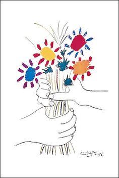 Pablo Picasso Petite Fleurs Poster