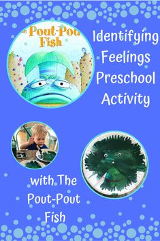 Using the fun children's book, The Pout-Pout Fish, create a fun preschool or toddler craft to help your little ones explore and identify their feelings. Toddler Learning, Toddler Preschool, Toddler Crafts, Preschool Activities, Early Learning, Ocean Activities, Alphabet Activities, Toddler Activities, Feelings Preschool