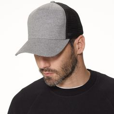 Grey Cotton Flannel Trucker Hat James Perse 36969ced671d