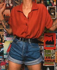 Retro Outfits, Grunge Outfits, Vintage Outfits, Cool Outfits, Casual Outfits, Summer Outfits, Look Fashion, 90s Fashion, Fashion Outfits
