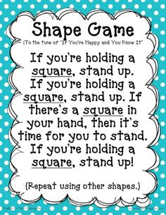 Shape Game Song