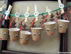 Un joli calendrier de l'avent avec des gobelets - sélection Pioupiou