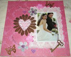 huge scrapbook page sale love wedding page