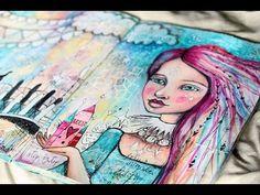 Flip Through of Big Journal + House & Bridges, A Double Journal Spread with Tamara Laporte - YouTube