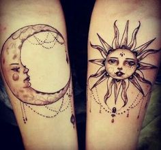 Tatto luna y sol