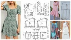 Costura Diy, Short Sleeve Dresses, Dresses With Sleeves, Boho, Sewing, Patterns, Fashion, Dress Making, Sew Simple