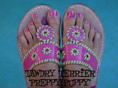 "@TawdryTerrier ""Preppy Puppy"" - available at https://www.etsy.com/shop/TawdryTerrier #nailpolish #indienailpolish #tawdryterrier"