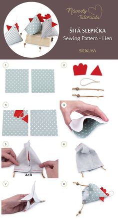 Most recent Absolutely Free sewing hacks pin cushions Thoughts Šitá slepička / Sewing Pattern - Hen tutorial - zahl. Sewing Toys, Free Sewing, Sewing Crafts, Sewing Projects, Fabric Sewing, Sewing Basics, Sewing Hacks, Sewing Tutorials, Sewing Patterns
