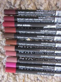 Nyx Long Lip Pencils M.a.c Dupes These things are amazing. The brow pencils are phenomenal as well. Though they're better for filling in than lining.