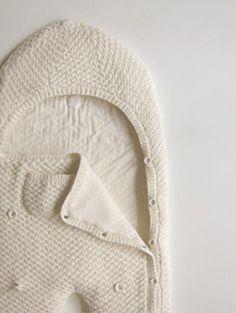hand knit baby schlafsack