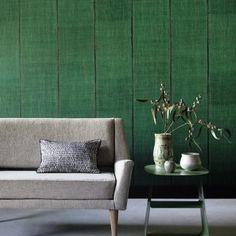 your interior with this gorgeous green wallpaper. Green Wallpaper, Cool Wallpaper, Bedroom Wallpaper, Interior Styling, Interior Decorating, Interior Design, Sari, Pierre Frey, World Of Interiors