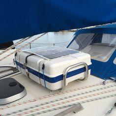 Plastimo Liferaft on deck