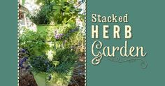 Looking for a unique garden DIY project? We've got just the thing! This stacked herb garden is one of our favorite projects to date - and just look at how amazing it turned out!!