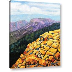 ArtWall Gene Foust Yellow Brick Road Gallery-Wrapped Canvas Art, Size: 24 x 32, Orange