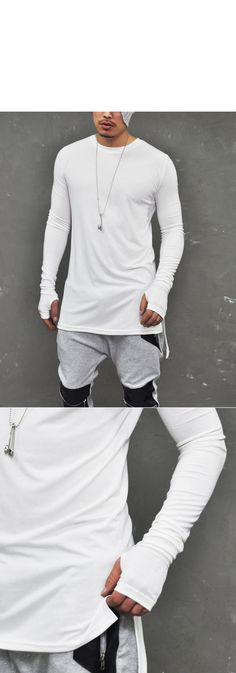 Tops :: Tees :: Street-Edge Rebel Sport Long Armwarmer Crew-Tee 320 - Mens Fashion Clothing For An Attractive Guy Look