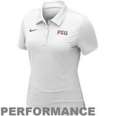 Nike Florida State Seminoles (FSU) Ladies Training Performance Polo - White | $54.95  shop.seminoles.com