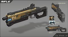 ArtStation - Weapon series 2_Rifles, Rock D