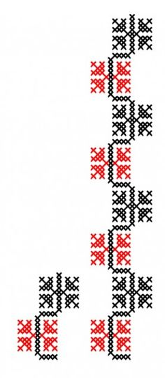 Poze make the middle line a different color! Cross Stitch Numbers, Cross Stitch Borders, Cross Stitch Charts, Cross Stitching, Cross Stitch Patterns, Embroidery On Clothes, Folk Embroidery, Hand Embroidery Designs, Cross Stitch Embroidery
