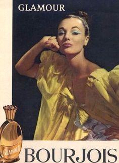 Ivy Nicholson in Bourjois parfum ad, photo by Sam Lévin, 1960