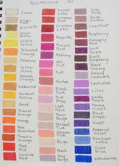 Colored Pencil Color Charts PRISMACOLOR  - WetCanvas